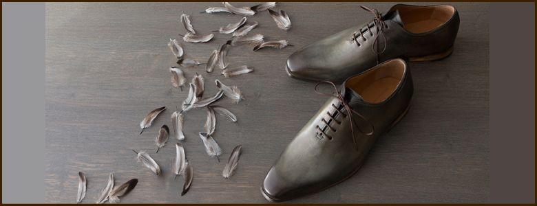 手染め革靴 YUHAKU
